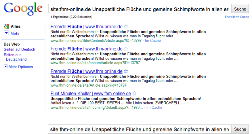 doppelter Content auf fhm-online.de